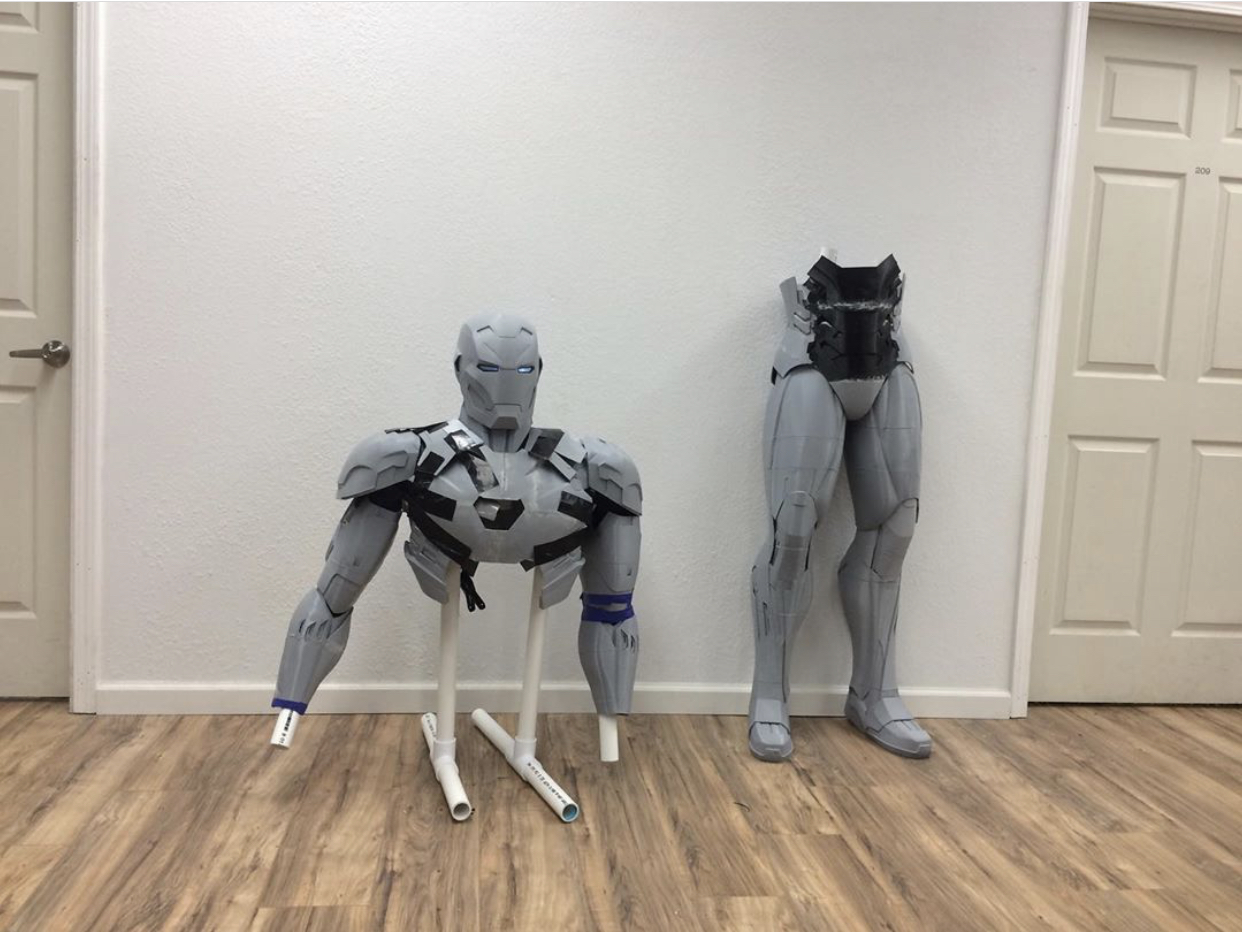 Chad Youngblood making Iron Man using Hacker Lab's shared coworking in Rocklin